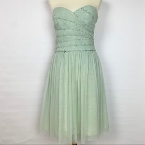 BCBGMaxazria Mint Tulle strapless dress
